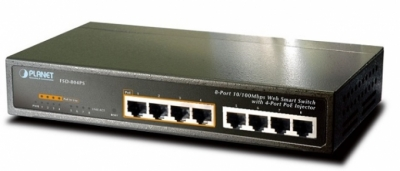 8-port 10/100Mbps with 4-port PoE Switch PLANET FSD-804PS